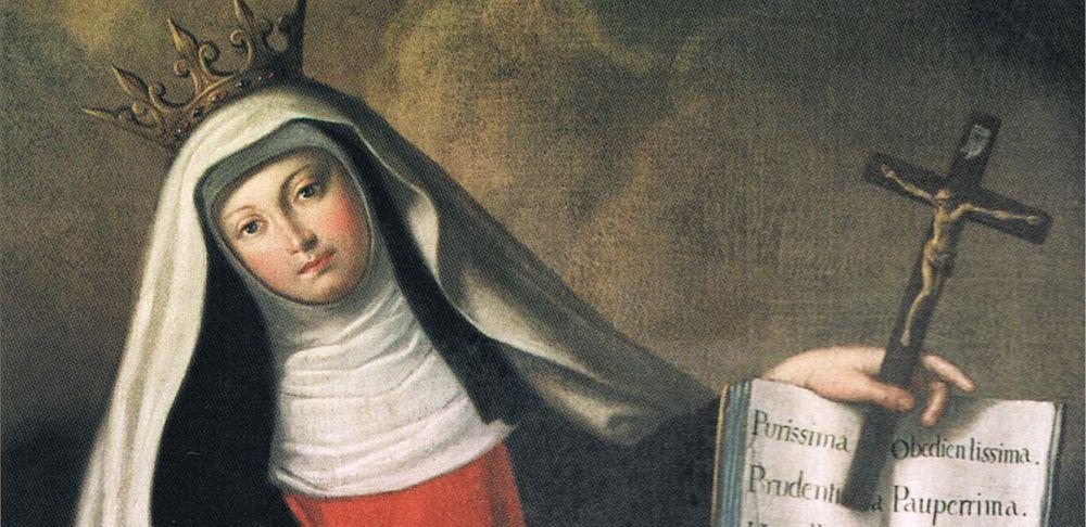 Tableau de A. Pradao 18è, siècle, Ste Jeanne de France, Balsamâo-Chacim (Portugal)