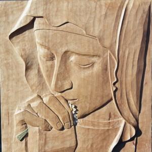 Sculpture sur bois, vertu de foi, monastère de l'Annonciade