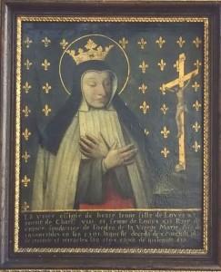 Sainte Jeanne de France, tableau, 17è siècle, monastère de l'Annonciade, Villeneuve-sur-Lot