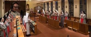 Messe radiodiffusée au monastère de Thiais