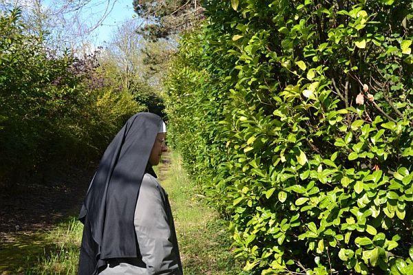 Dans le parc du nouveau Monastère de l'Annonciade à Caen-Grentheville