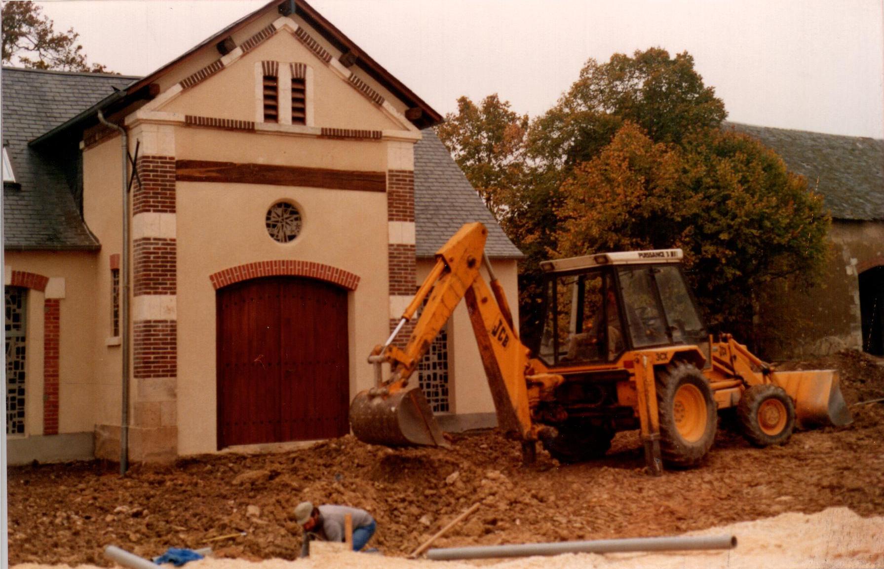 Construction de la chapelle du monastère