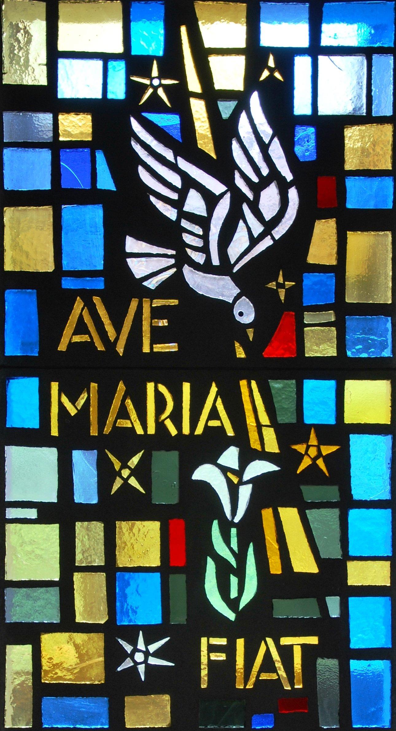 Vitrail de l'Annonciation - Chapelle du monastère de l'Annonciade à Saint-Doulchard
