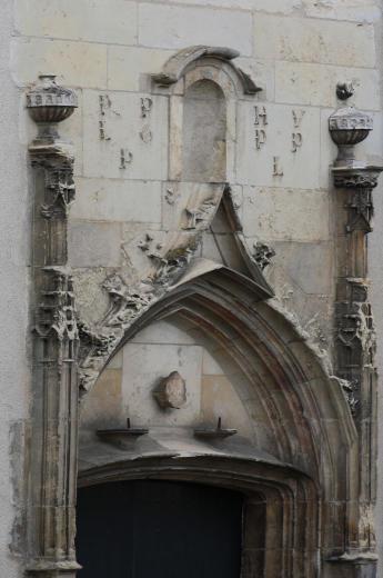 Porte de la chapelle Sainte Jeanne à Bourges