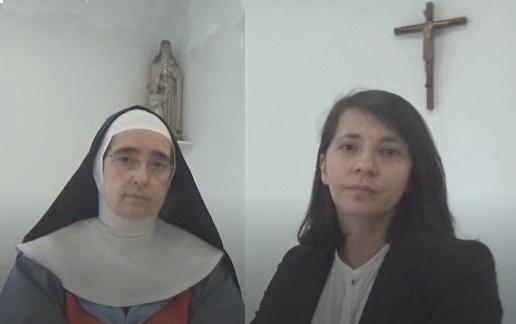 Mère Ancelle de Thiais et Hélène ladiray, architecte, dialoguent sur les d'architecture, de prière et de liturgie