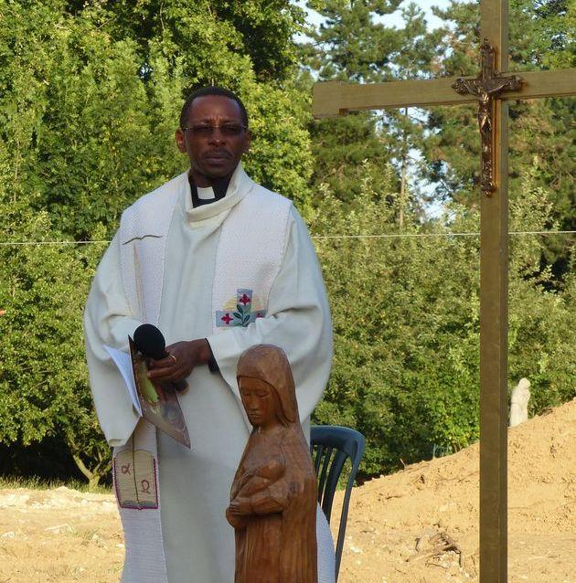 Bénédiction à l'Annonciade de Thiais par le Père Cyriaque