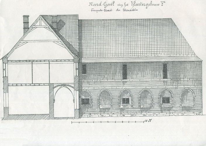 1. Plan b) façade nord