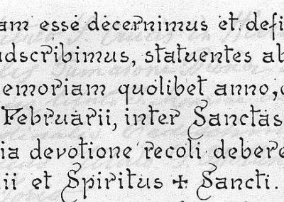 Bulle de canonisation, extrait. Jeanne est inscrite au catalogue des saints