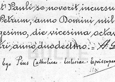 Bulle de canonisation, la fin, signature de Pie XII