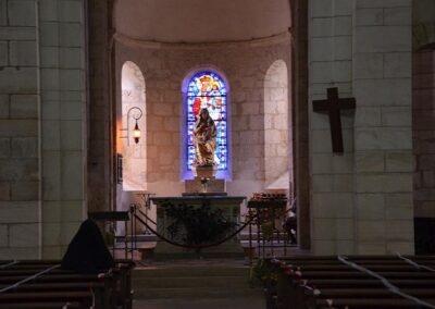 Intérieur de l'église de Lignières